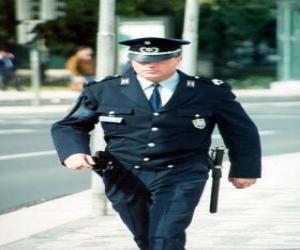 Układanka Policjanta lub policyjnej