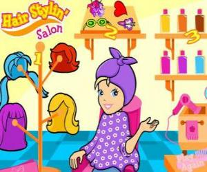 Układanka Polly Pocket w gabinecie kosmetycznym