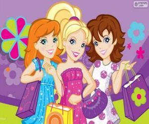 Układanka Polly Pocket zakupy z koleżankami