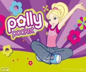 Układanka Polly siedzi na podłodze