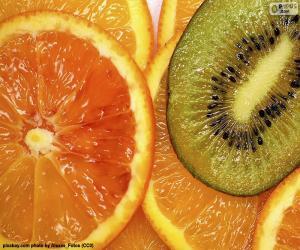 Układanka Pomarańczowy i Kiwi