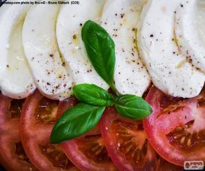 Układanka Pomidorów i mozzarelli
