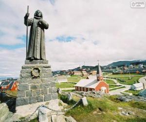 Układanka Pomnik Hans Egede, Nuuk, Greenland
