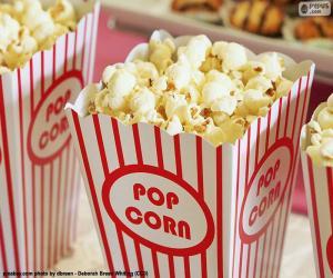 Układanka Popcorn w kinie