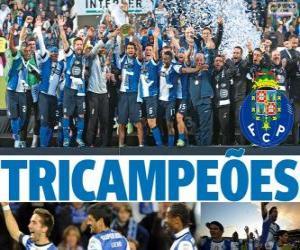 Układanka Porto, Portugalia piłka nożna Liga 2012-2013 mistrz, pierwszej lidze