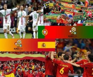 Układanka Portugalia - Hiszpania, półfinały Euro 2012