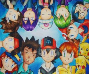 Układanka Postacie Pokemon