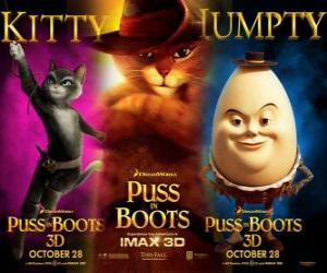 Układanka Poster z filmu Kot w butach