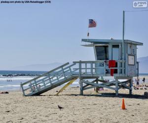 Układanka Posterniał ulgi i nadzoru na plaży