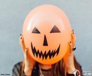 Układanka Potworna twarz na balon