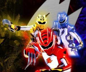 Układanka Power Rangers elitarnych wojowników