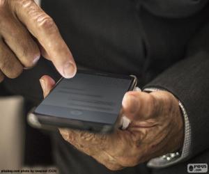 Układanka Praca z telefon komórkowy