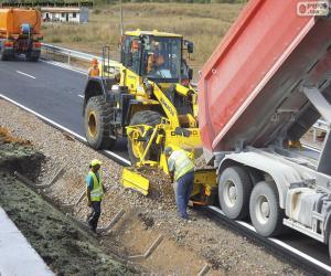 Układanka Pracownicy zatrudnieni na autostradzie