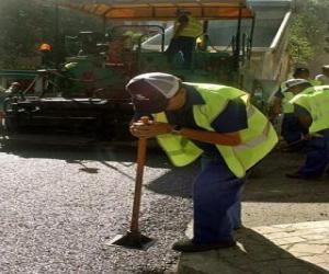 Układanka Pracowników chodnikowe