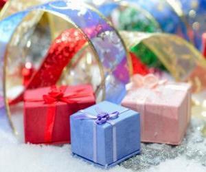 Układanka Prezenty świąteczne, pięknie