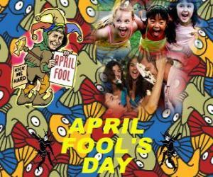 Układanka Prima aprilis obchodzony 1 kwietnia poświęcony dowcipów w wielu krajach