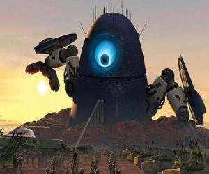 Układanka Probe robot, robot obce