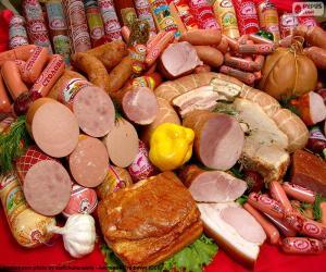 Układanka Produkty mięsne