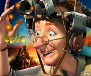 Układanka Profesor Bomba, ekscentrycznego naukowca