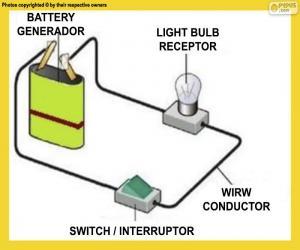 Układanka Prosty obwód elektryczny