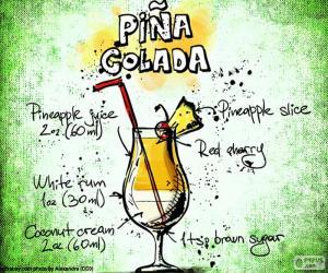 Układanka Przepis na Piña Colada