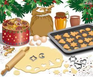 Układanka Przygotowania świąteczne ciastka