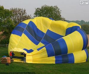 Układanka Przygotowanie hot air Balloon
