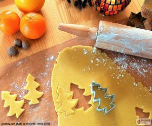Układanka Przygotowanie pliku cookie Boże Narodzenie