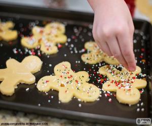 Układanka Przygotowując świąteczne ciastka