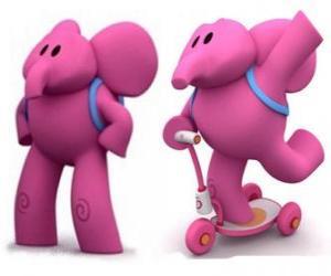 Układanka Przyjazny słoń jest najsilniejszym Elly i jego przyjaciele zawsze pomaga