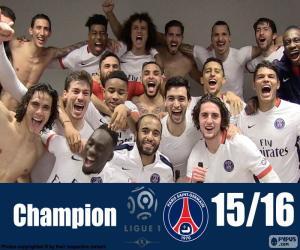 Układanka PSG mistrz 2015-2016