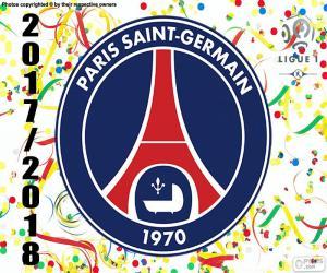 Układanka PSG, mistrz Ligue 1 2017-2018