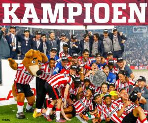 Układanka PSV Eindhoven mistrz 2014-2015