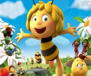 Układanka Pszczółka Maja i inne znaki