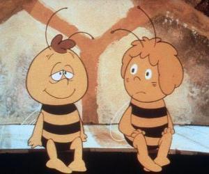 Układanka Pszczółka Maja i jej przyjaciela Williego