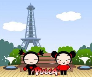Układanka Pucca i Garu w Paryżu