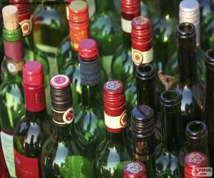 Układanka Puste butelki wina