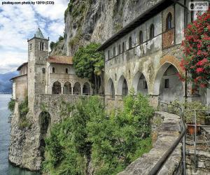 Układanka Pustelnia Santa Caterina del Sasso, Włochy