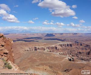 Układanka Pustyni Utah w Stanach Zjednoczonych