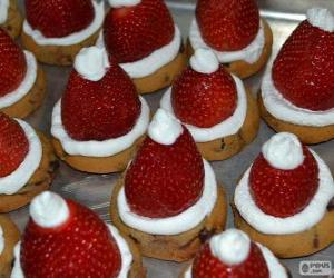 Układanka Pyszne Santa Claus kapelusze