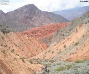 Układanka Quebrada de Humahuaca, Jujuy, Argentyna