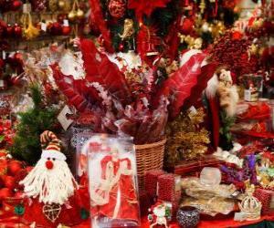 Układanka Różne dekoracje na Boże Narodzenie