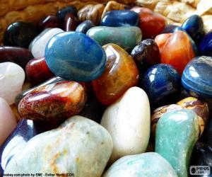 Układanka Różne minerały