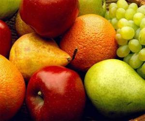 Układanka Różne owoce