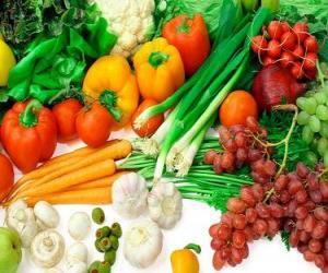 Układanka Różne warzywa