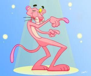 Układanka Różowa Pantera taniec