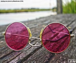 Układanka Różowe okulary