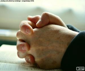Układanka Ręce modląc