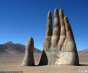 Układanka Ręka z pustynny, Chile