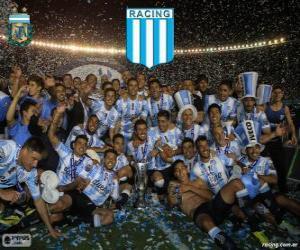 Układanka Racing Club de Avellaneda, mistrz Torneo de Transición 2014 w Argentynie
